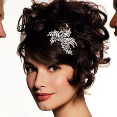 Opting for a Short and Sassy Wedding Hairstyle