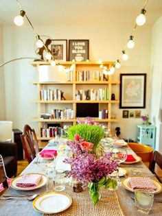 How to Throw the Sweetest Spring Dinner Party via Brit + Co.