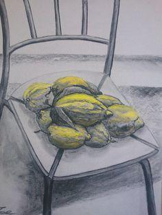 """ Lemon"" 55 x 70 węgiel"