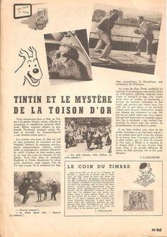 la page cinema de ce numero de franc jeux est consacré au film tintin et le mystere de la toison d'or premiere aventure de tintin au cinema , tintin étant interprété par jean pierre talbot