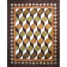 Not a fan of the colors but I love the quilt. I love the 3-D design. This is one I will be making in the near future.