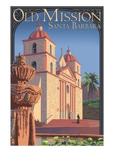 Old Mission - Santa Barbara, California