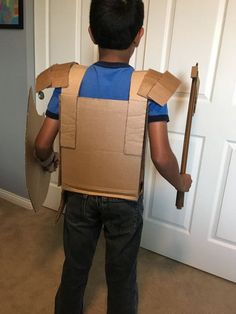 Cardboard Armor Suit: 5 Steps (with Pictures) Recycled Costumes, Recycled Dress, Cardboard Costume, Cardboard Crafts, Armor Of God, Suit Of Armor, Hero Costumes, Diy Costumes, Diy Knight Costume