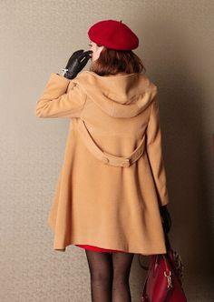 Small - Tan Large lapel woolen overcoats Irregular Hem cloak loose woolen blouse plus size windcheater windcoat wool jacket woman winter coat. 189