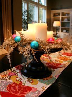 Centro de mesa de Natal alto