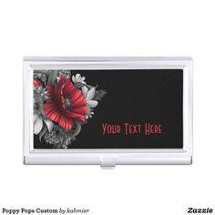 Sold Poppy Pops Custom Case For Business Cards