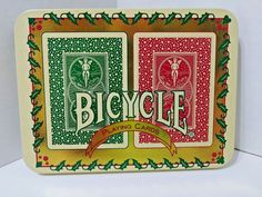 Bicycle Christmas Playing Cards - 2 Decks In A Christmas Tin #Bicycle
