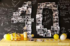 Żółty balonik: 40 urodziny - dekoracje