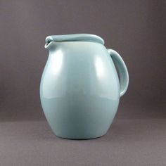 Russel Wright Iroquois Casual covered pitcher in Ice Blue