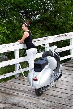 Samantha and 1959 Vespa GS150 Photoshoot by: Creative images by Allison | Flickr - Photo Sharing!
