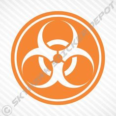 """(""""Biohazard Symbol"""" Vinyl Decal Sticker Perfect for Your Car Truck or SUV! (The decal is only the white you see in the picture and has no background). Macbook Stickers, Bumper Stickers, Macbook Pro, Window Decals, Vinyl Decals, Window Wrap, Call Of Duty Black, Sticker Ideas, Racing Stripes"""