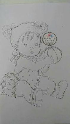Resultado de imagem para riscos baby marcia anjinho