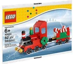 LEGO Seasonal: Christmas Train (Engine & Car) 40034 (Retired, Late 2012)  #LEGO