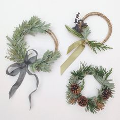 It's all about the hustle this week…I'm trying to remember to take time and enjoy the little things. Like tiny wreaths. Everything is so darn adorable in miniature. #florist #wreath...