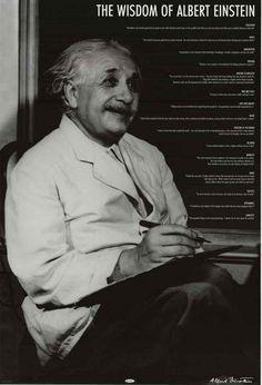 Albert Einstein Wisdom 15 Quotes Inspirational Poster 24x36 – BananaRoad