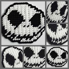 Plastic canvas Jack Skellington magnet by HomespunCrafting on Etsy, $3.50