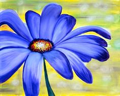 Daisy Painting, Garden Painting, Watercolor Projects, Watercolor Paintings, Folk Art Flowers, Oil Pastel Art, Purple Daisy, Art Pictures, Photos