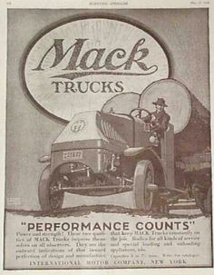 Old mack truck ad. Year ?