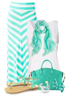 Mint Maxi Skirt Outfit for Spring and Summer - Health And Fitness