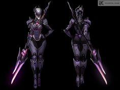 ArtStation - Concept art for Immortal Kings, Daria Leonova Female Character Design, Comic Character, Character Concept, Character Sketches, Cyberpunk Girl, Cyberpunk Character, Armor Concept, Concept Art, Best Armor