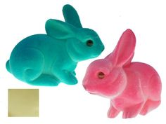 Sitting flocked bunnies for easter decoration at banksia bargain online shopping