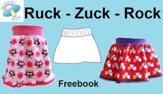 Nuckelbox: Freebook: Einen Ruck-Zuck-Rock nähen