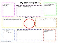A SelfCare Plan Template  Work Stuff    Care Plans