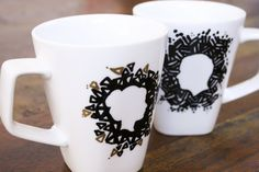 DIY: Silhouette Sharpie Mugs Tutorial, These are a great handmade gift for Valentine's Day!  Make one right now!  They are so Easy!