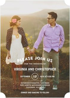 Tasteful Text - Signature White Wedding Invitations - Good on Paper - Fog - Neutral : Front