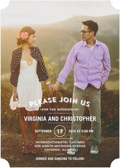 Tasteful Text - Signature White Wedding Invitations