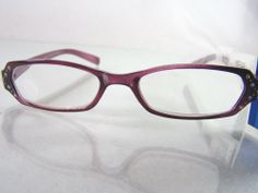 #FosterGrant Foster Grant Spare Pair #translucent #purple plastic framed reading eye #glasses #eyeglasses with +3.25 strength/power/magnification and clear #rhinestone #bling #design #decoration #embellishment  adornment, brand new and unused with original manufacturer's retail tag attached http://www.ebay.com/itm/NEW-FOSTER-GRANT-SPARE-PAIR-PURPLE-READING-EYE-GLASSES-3-25-STRENGTH-READERS-/111379543933?pt=LH_DefaultDomain_0hash=item19eebcf77d