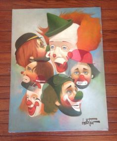 Clowns Paintings Original Canvas | 1000x1000.jpg