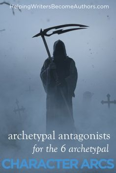 Archetypal Antagonists for Each of the Six Archetypal Character Arcs - Helping Writers Become Authors Writing Resources, Writing A Book, Writing Tips, Grammar Tips, Story Structure, Writing Characters, Hero's Journey, Authors, Writers