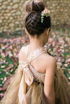 Ideas For Hair Wedding Bohemian Updo Dance Hairstyles, Bohemian Hairstyles, Flower Girl Hairstyles, Little Girl Hairstyles, Trendy Hairstyles, Teenage Hairstyles, Flower Girl Updo, Communion Hairstyles, Girls Updo