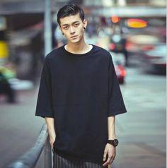 Men Casual T-Shirt Loose Half Sleeve Tee Sweatshirt Hip-Hop Oversize Fashion Korean Fashion Minimal, Korean Fashion Men, Mens Fashion, Fashion Trends, Oversized Shirt Men, Casual T Shirts, Men Casual, Casual Outfits, Mens T Shirts Online