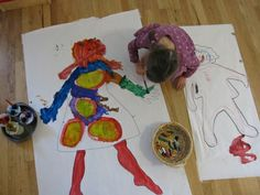 Body tracing and painting