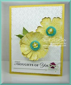 I just posted a new FREE card instruction sheet for this cute card  using Stampin Ups Mixed Bunch stamp set and coordinating Blossom Punch