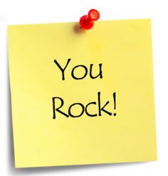 You Rock! #encouraging words