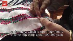 [Video]: Wang Lanqin, 52, a villager from Buyi ethnic minority, Guizhou, works on embroidery to help lift family out of poverty. Video: Chen Qingqing/GT