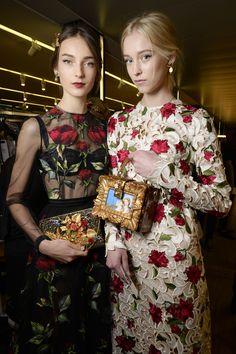 Dolce & Gabbana Women Fall Winter Fashion Show 2015 2016: Backstage