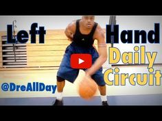 Dre Baldwin talks about How To Improve Your Left Hand: Dribbling & Layups Daily Drill Circuit for Basketball. Street Basketball, Basketball Tricks, Basketball Practice, Basketball Workouts, Basketball Skills, Basketball Coach, Basketball Uniforms, Basketball Hoop, Basketball Finals