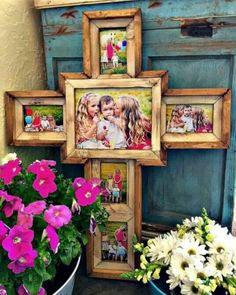 Wooden cross frames from I want one! Wooden cross frames from I want one! Wooden Crosses, Crosses Decor, Wall Crosses, Painted Crosses, Frame Crafts, Wood Crafts, Diy And Crafts, Homemade Crafts, Cross Pictures