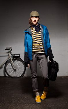 This is a very chic and trendy look for me if I am out bike riding! I love the variations of color and the fitted look!  nau.com: sustainable urban + outdoor apparel