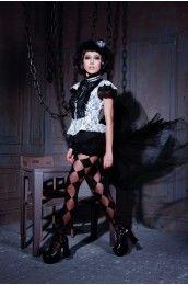 Constance White Black Lace Top