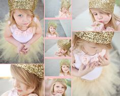 child portrait with gold and pink    Fairytales and glitter | Morgan Kervin Photography