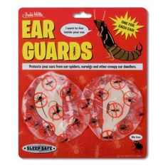 to prevent spiders from crawling into your ears. lol, I may have to buy this. I'm so deathly afraid of spiders it's not funny.