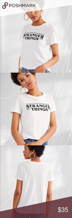 🆕🍷Stranger Thing Woman's Top It's one of my favorites! This tee is so soft and the cut is flattering tucked in or out. Join the fan club and get your tee before they sell out Tops Tees - Short Sleeve