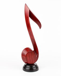 Wood Sculpture Note Music Treble Clef Woodcarving Wood