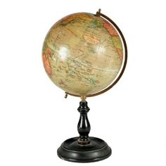 I believe no home is complete without an antique globe