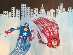 Captain America and Flash handprints